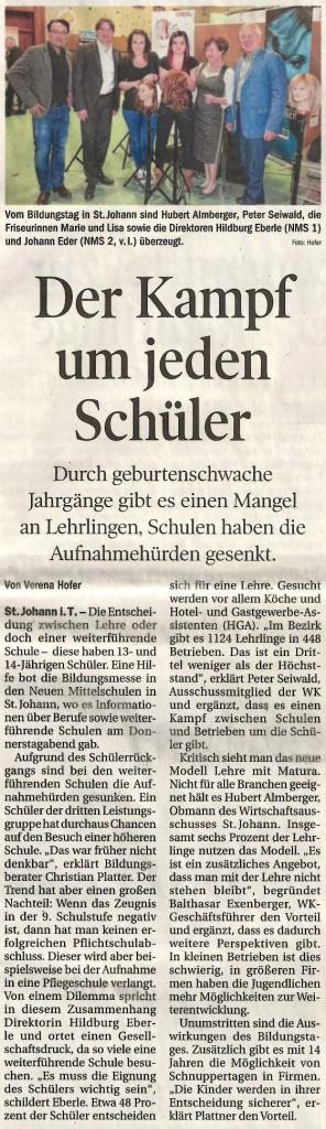 Tiroler Tageszeitung - 15. November 2015