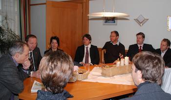 Ziel Landtag: Peter Seiwald im Klubzimmer der VP Tirol im Rahmen des WB-Mentoring-Programms