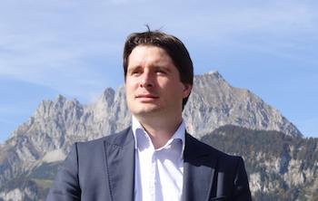 Peter Seiwald vor seinem Hausberg, dem Wilden Kaiser