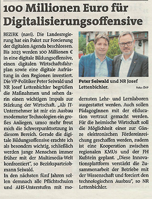 100 Millionen Euro für Digitalisierungsoffensive