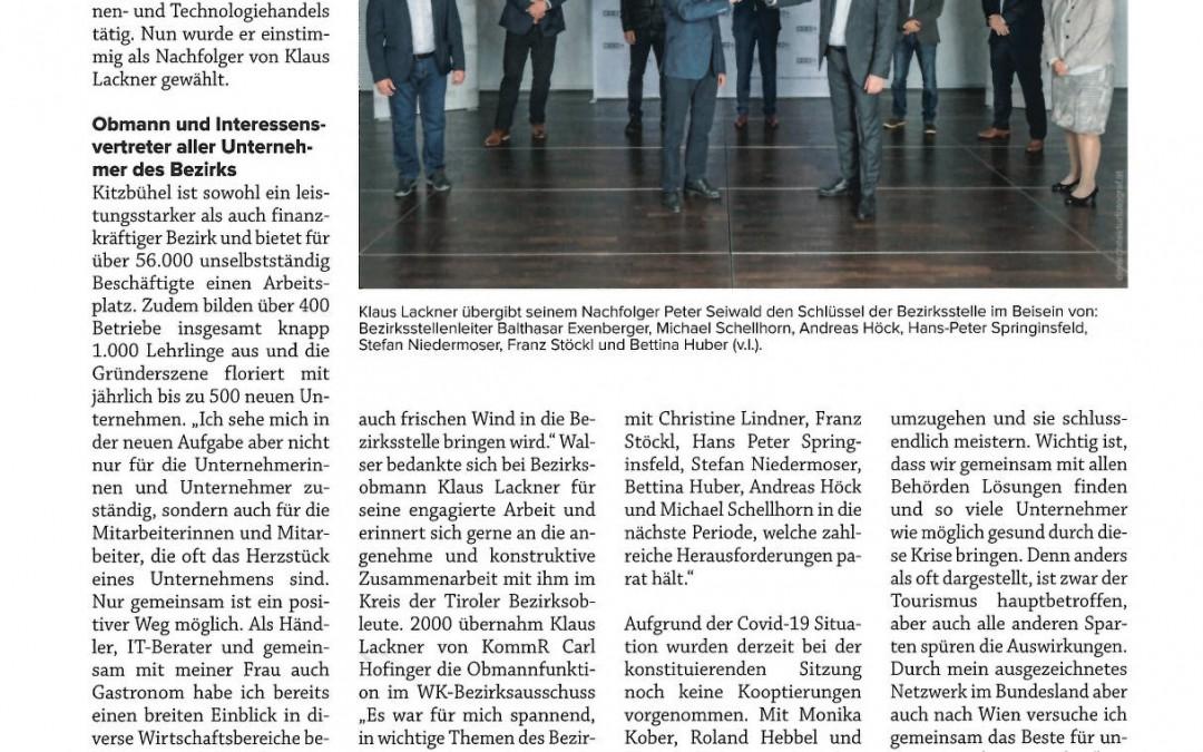 Peter Seiwald neuer Obmann der WK-Bezirksstelle Kitzbühel