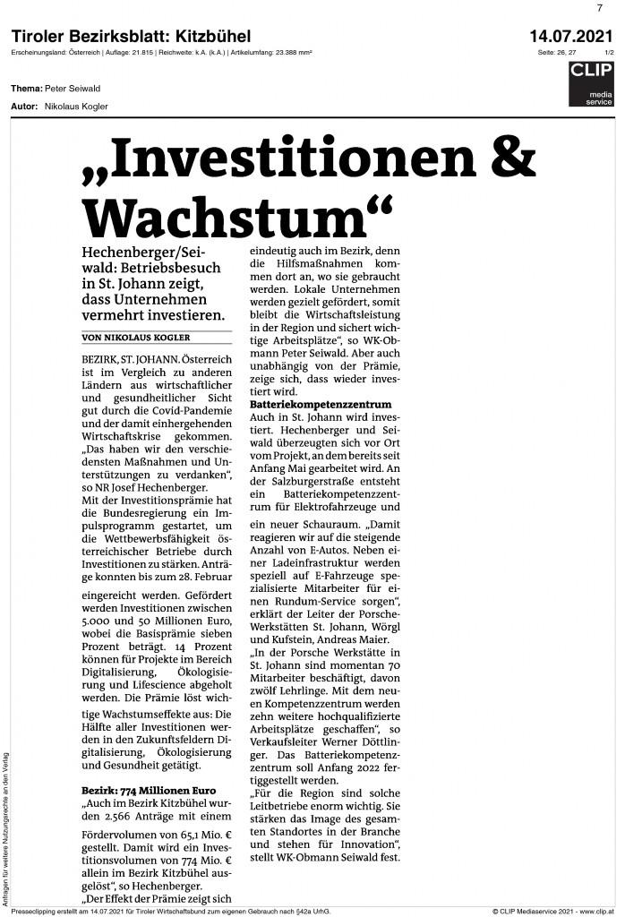 07_2021_Bezirksblatt_Kitzbuehel_Investitionen_wachstum