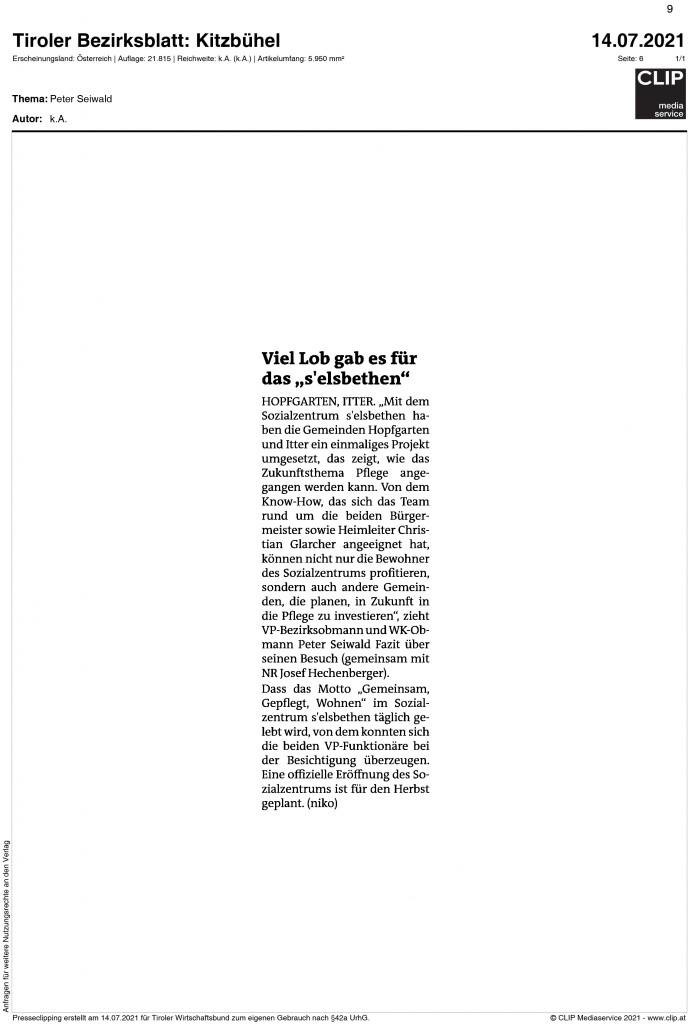 07_2021_Bezirksblatt_Kitzbuehel_viel_lob_gab_es_fuer_das_selsbethen
