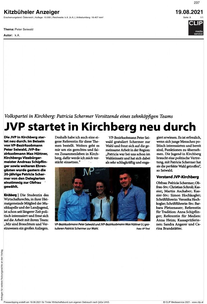 08_2021_kitzbüheler_anzeiger_jvp startet in kirchberg neu durch