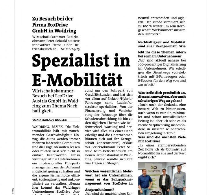 Spezialist in E-Mobilität