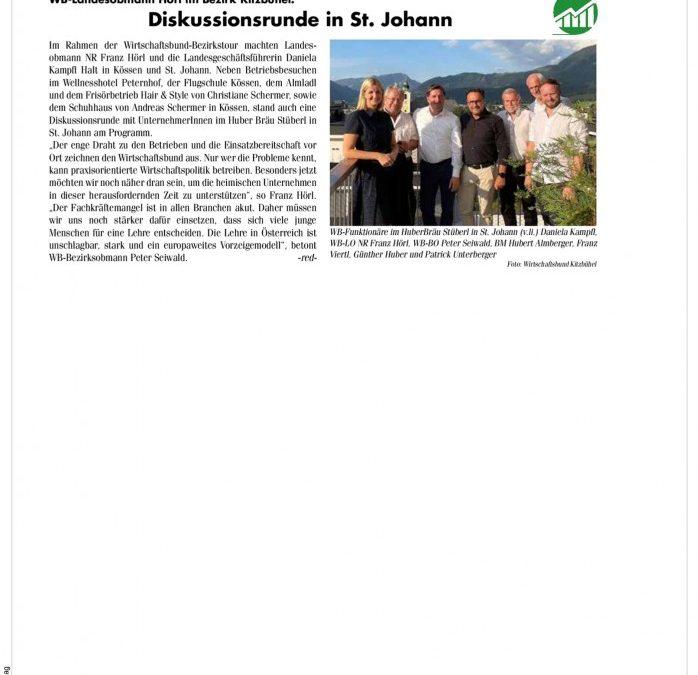 Diskussionsrunde in St. Johann