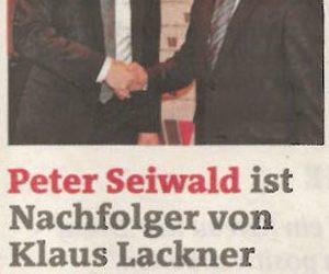 Peter Seiwald ist Nachfolger von Klaus Lackner