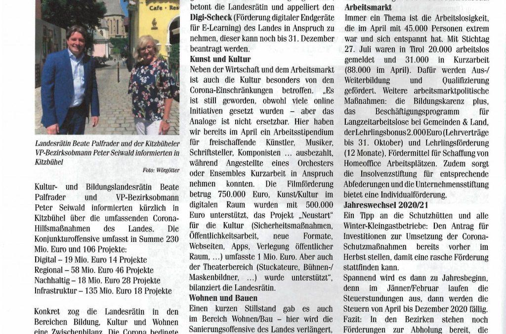 Tirol packt´s an – 230 Millionen Euro für 106 Projekte