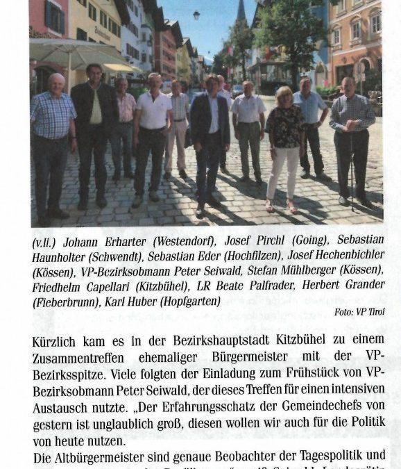 Treffen und Austausch mit Altbürgermeistern