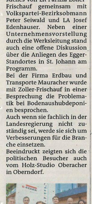 LR Zoller-Frischauf auf Besuch im Bezirk